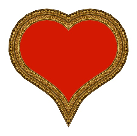 Frame picture in the form of heart photo