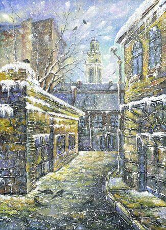 Old street in Vitebsk in the winter Stock Photo - 8874621