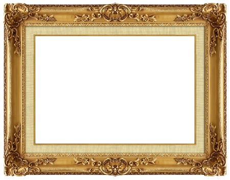Picture gold frame with a decorative pattern Stock Photo - 8874733