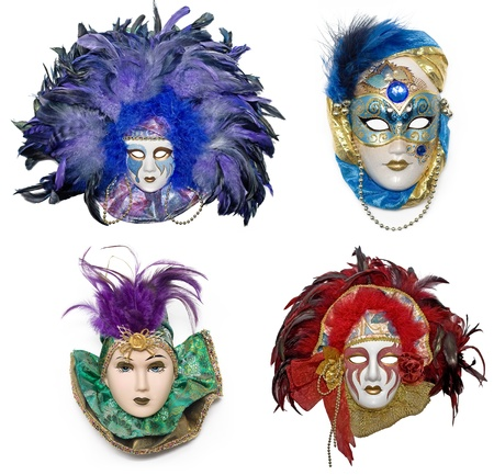 brilliants: Venetian mask with jewelry and brilliants and pearls