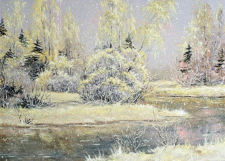Winter snow landscape photo