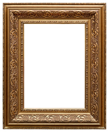 Picture gold frame with a decorative pattern photo