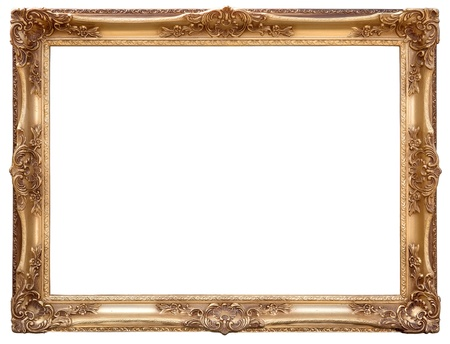 antique mirror: Picture gold frame with a decorative pattern