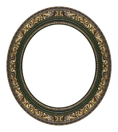 ovalo: Marco de oro oval con un patr�n decorativo