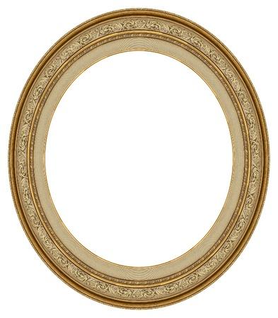 �valo: Marco de oro oval con un patr�n decorativo