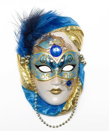Venetian mask with jewelry and brilliants and pearls Stock Photo - 9695122