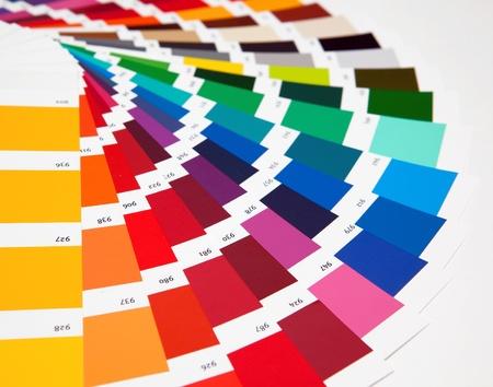 Ensemble d'échantillons de différentes couleurs