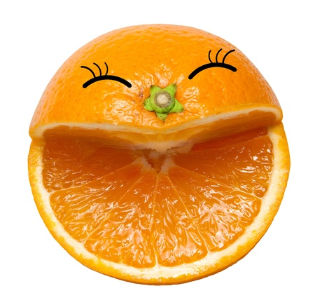 Smile from orange photo