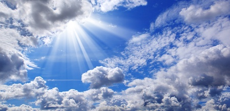 cloudscape: The Blue Sky and Clouds Stock Photo