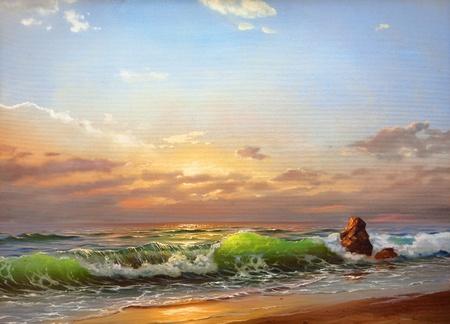 Sea landscape on a sunset photo