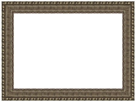 Picture silver frame with a decorative pattern photo
