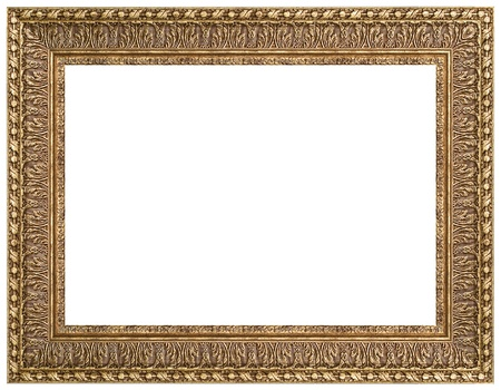 rectangular: Picture gold frame with a decorative pattern