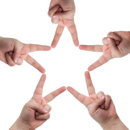 Hands in the form of a star Stock Photo - 9797397