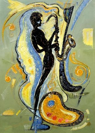 saxof�n: La imagen del m�sico tocando un saxof�n