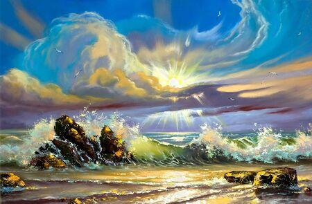 Sunset on seacoast Stock Photo - 9797331