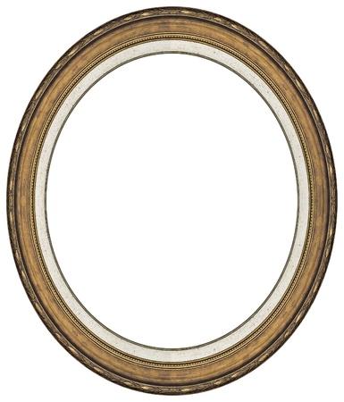 ovalo: Marco oro oval con un patr�n decorativo