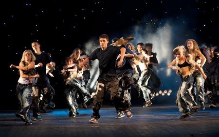 VITEBSK, BELARUS - JULY 1: Performance of dancing group