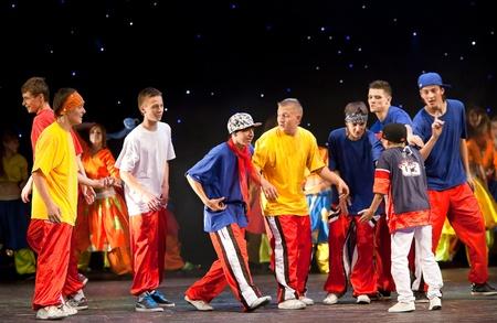 belarus: VITEBSK, BELARUS - JULY 1: Performance of dancing group Belka july 1, 2011 in Vitebsk, Belarus Editorial