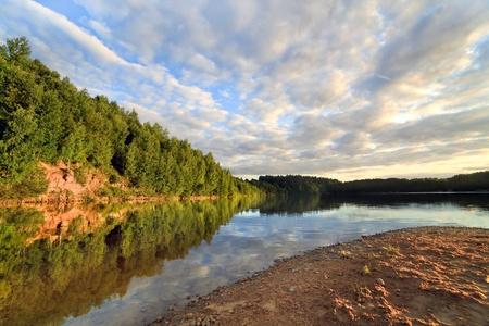 Wood lake near Vitebsk, Belarus Фото со стока