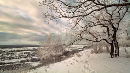 Beautiful snow winter landscape, Russia photo
