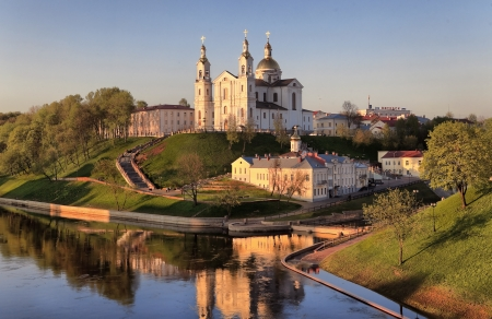 consummation: view of the city of Vitebsk, Belarus