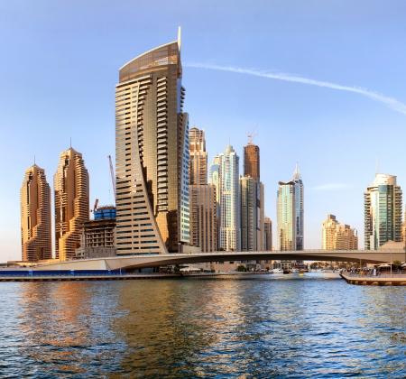 DUBAI, UAE - OCTOBER 23  View of the region of Dubai - Dubai Marina on october 23, 2012 in Dubai, UAE Editorial
