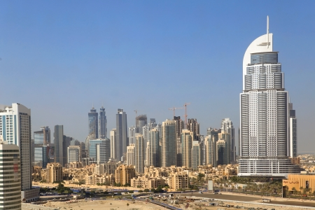 DUBAI, UAE - OCTOBER 23: Address Hote, Downtown on October 23, 2012 in Dubai. The hotel is 63 stories high and feature 196 lavish rooms and 626 serviced residences
