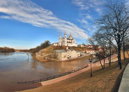 consummation: View of the city of Vitebsk, Belarus Stock Photo