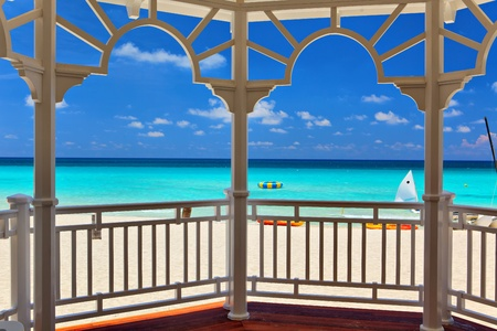 view from an arbor to the Atlantic Ocean, Varadero, Cuba photo