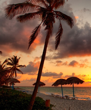 varadero: Beach at sunset, Varadero, Cuba