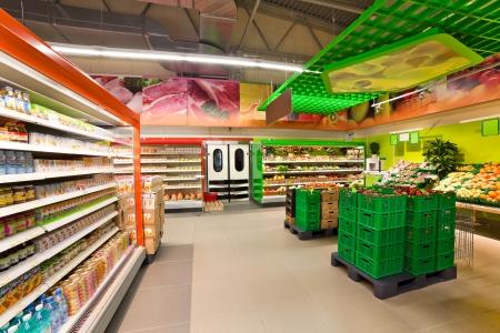 beverage fridge: VITEBSK, BELARUS - JULY 19: Shopping center Hanna, located in the Bilevo on july 19, 2012 in Vitebsk, Belarus. Hanna is one of the largest Belarusian companies