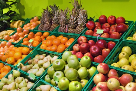 departments: Fruits in supermarket