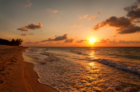 beach sunset: Beach at sunset, Varadero, Cuba