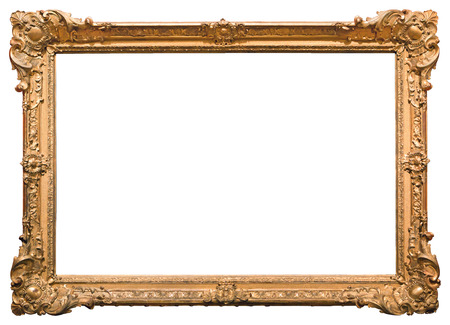 Gold picture frame. Isolated on white background Stock fotó - 50885780