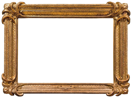 gold picture frame: Gold picture frame. Isolated on white background