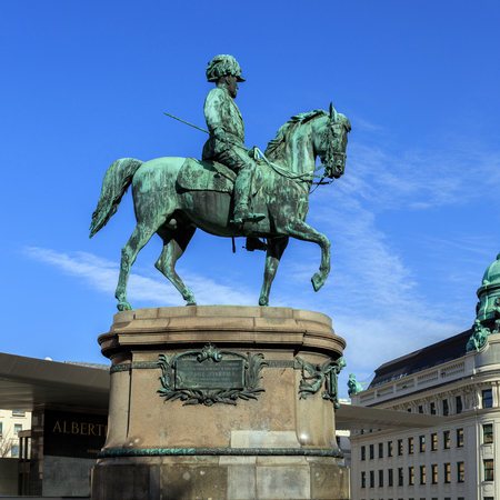 Equestrian statue of Archduke Albrecht, Duke of Teschen.Vienna, Austria. Editorial