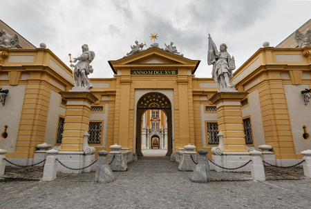 Melk Abbey, main entrance. Lower Austria. Banco de Imagens