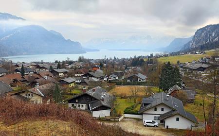 Small picturesque village St. Gilgen by the Wolfgangsee in the Austrian state of Salzburg, in the Salzkammergut region. Austria.