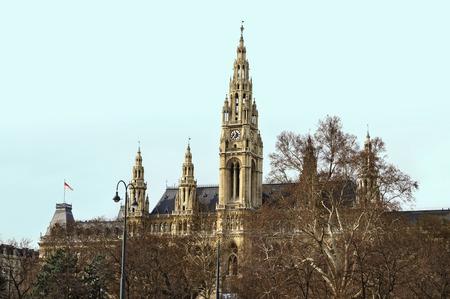 Town Hall (Wiener Rathaus) in the Winter. Vienna, Austria Stock Photo