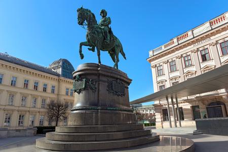 Equestrian statue of Archduke Albrecht, Duke of Teschen. Vienna, Austria.