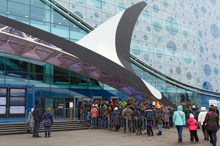 public aquarium: MOSCOW, RUSSIA - MARCH, 7. The queue at new Moscow Oceanarium - the largest indoor aquarium in Europe on March 7, 2016. Moscow, Russia. Editorial