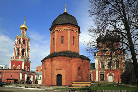 sobor: Russian Orthodox High monastery of St Peter (russian: Vysokopetrovsky monastery) in the Bely Gorod of Moscow, founded in the 1320s by the first Russian metropolitan Saint Peter of Moscow.