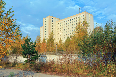 inaccessible: Special Operations Center of the Federal Security Service of the Russian Federation in a forest near city Balashikha. Moscow Region, Russia.