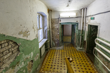 critical conditions: Interior of a working municipal city hospital