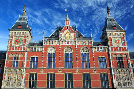 Main railway station in Amsterdam, designed by Dutch architect Pierre Cuypers and first opened in 1889. Editorial