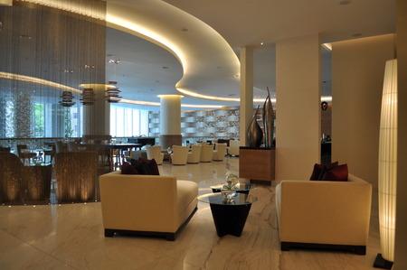 azerbaijanian: BAKU  AZERBAIJAN - May 9, 2012. The interior of the hotel JW Marriott Hotel Absheron in the center of Baku, Azerbaijan.