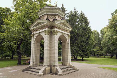 The old gazebo in the Park Kronvalda, built in 1901. Riga, Latvia