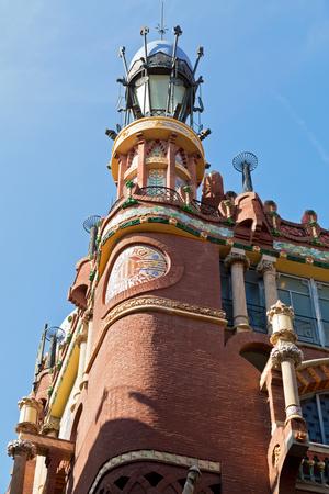Detail of Palace of Catalan Music (spanish: Palau de la Musica Catalana). Barcelona, Spain.
