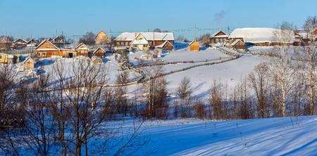ural: Russian old-believer village Visim in the low Middle Ural Mountains of Sverdlovsk region, Russia.