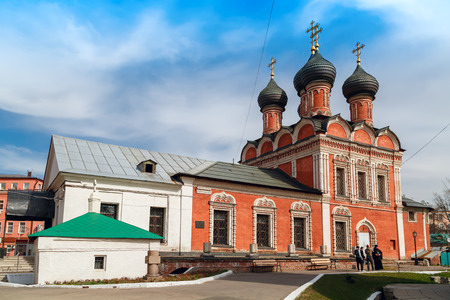 petrovka: Church of Our Lady of Bogolyubovo (with a refectory), built 1687 in the high monastery of St.Peter. Moscow, Russia.